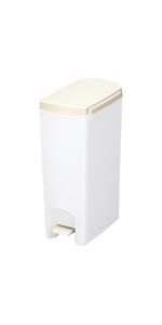 トンボ ゴミ箱 15L 日本製 フタ付き ペダル式 超スリム ホワイト セパ 新輝合成