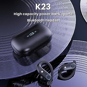 Sports earhook bluetooth headphone