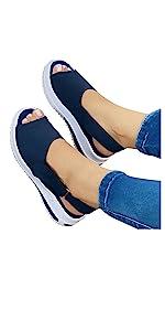 Women Beach Sandal Flat Roman Slippers Flip Flops Peep-Toe Ankle Strap Sandals Shoes