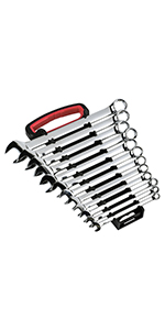 12-Piece SAE Wrench Rack