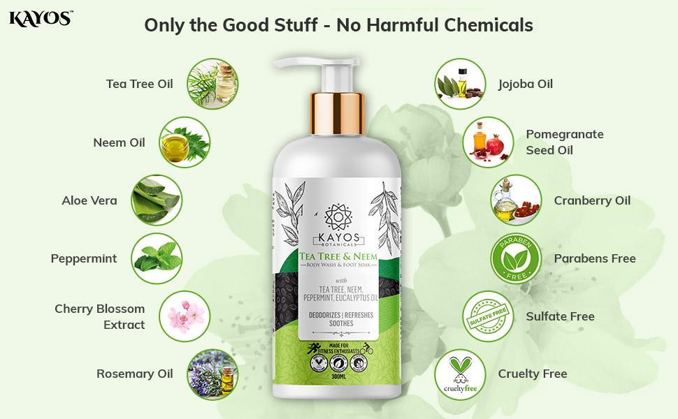natural body wash tea tree and neem