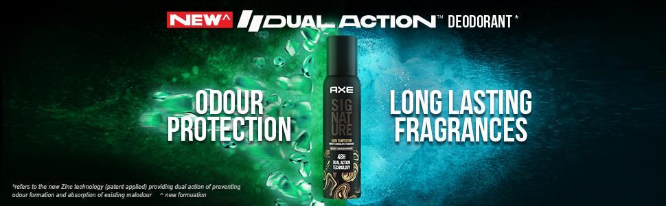 Axe Signature Dark Temptation Long Lasting No Gas Body Deodorant For Men 154 ml