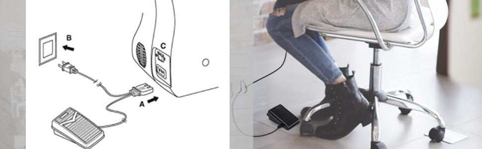 110V Foot pedal