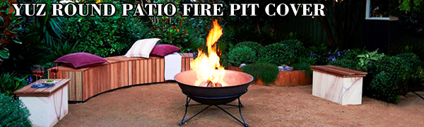 yuz round patio fire pit cover