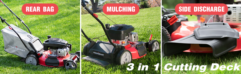 Gas Powered Lawn Mower 3 in 1