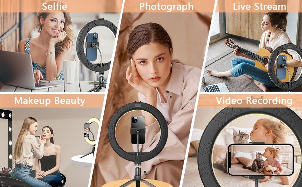 10'' Ring Light Application Scenes