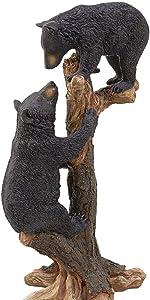 Climbing Cubs Black Bear Statue