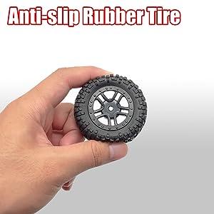 Anti-slip rubber tire
