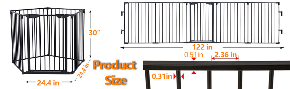 baby gate kids pet gates stair stove fireplace fence  dog gate