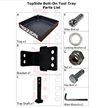 topside tool tray parts list