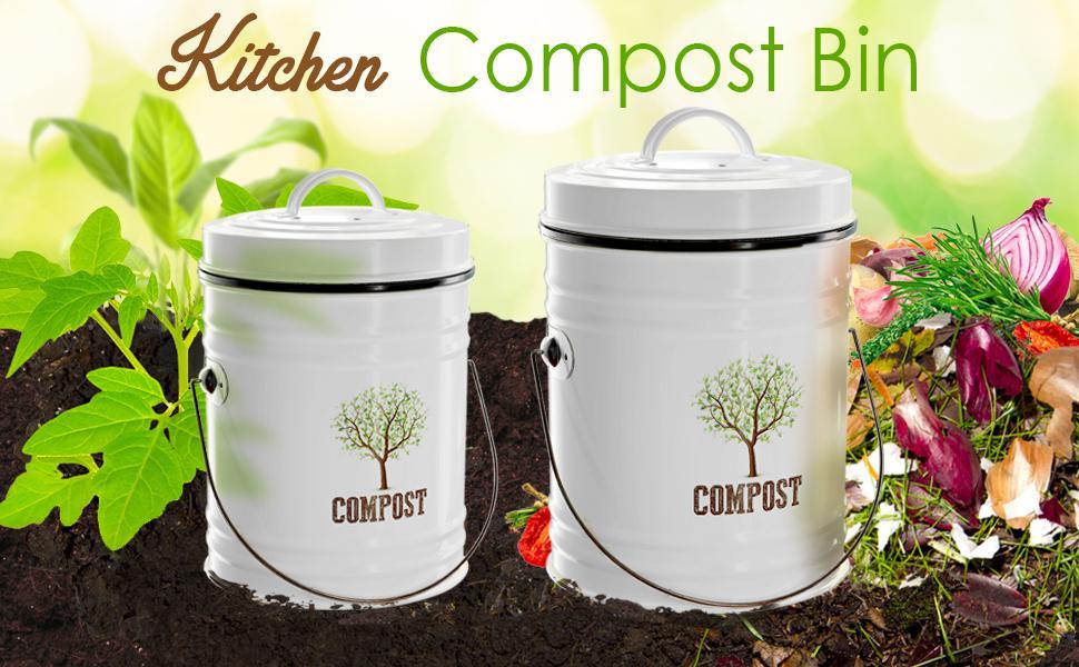 Farmhouse kitchen compost bins