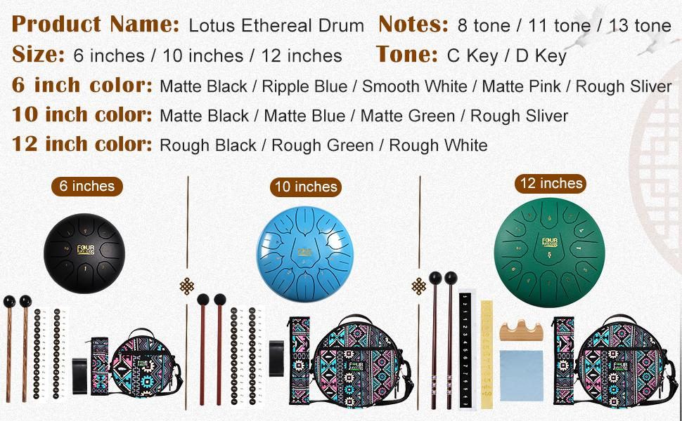 All kinds of steel tongue drums