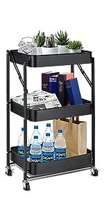 3 tier storage cart organizer cart slim storage cart craft cart utility carts with wheels