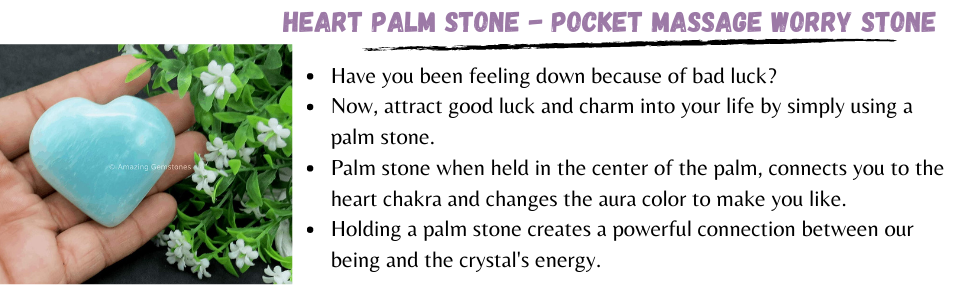 Heart Palm stone