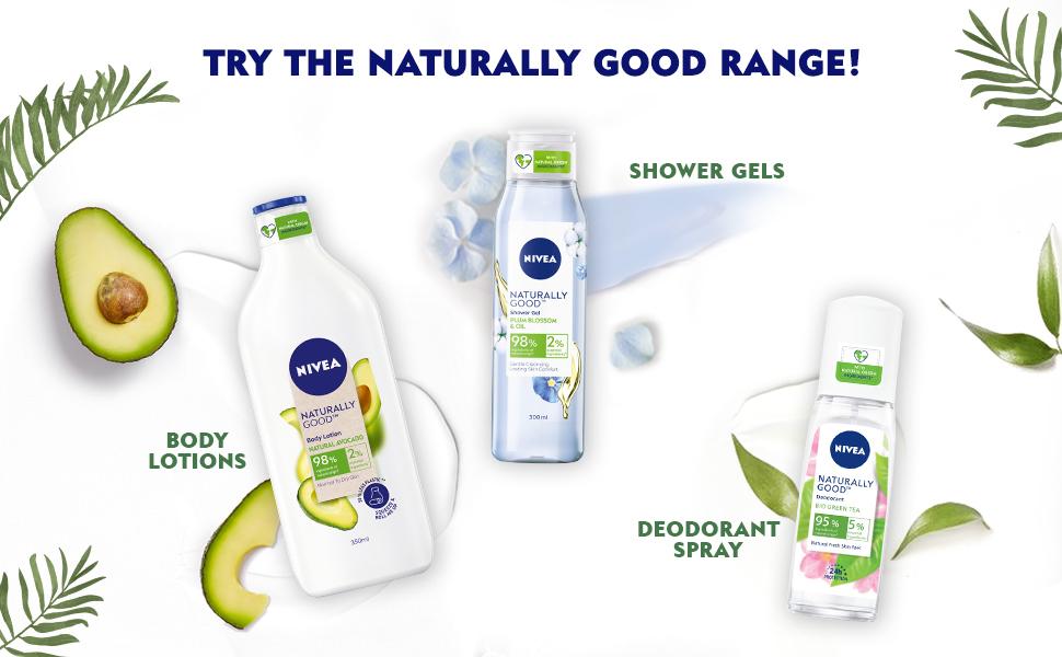 Nivea,Women,Body Wash, Shower Gel,Natrual Ingredients,Moisturization