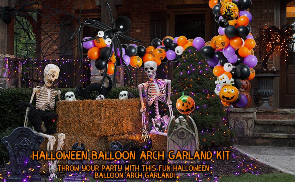 Halloween Balloon Arch Garland Kit