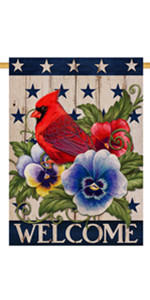 Home Decorative Cardinal House Flag