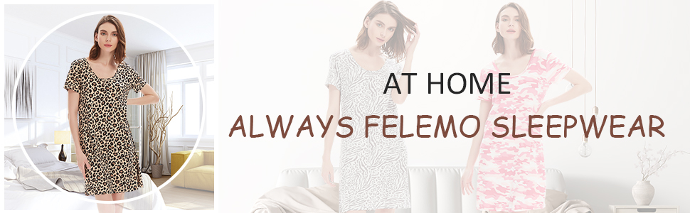 Womens Nightgown Short Sleeve Sleepwear