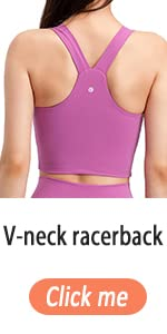 Evercute Racerback Sports Bras Padded Strappy Y Racer Back Cropped Bras for Yoga Workout Low Impact