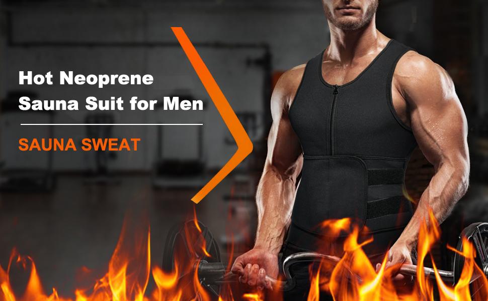 Wonderience hot neoprene sauna suit for men