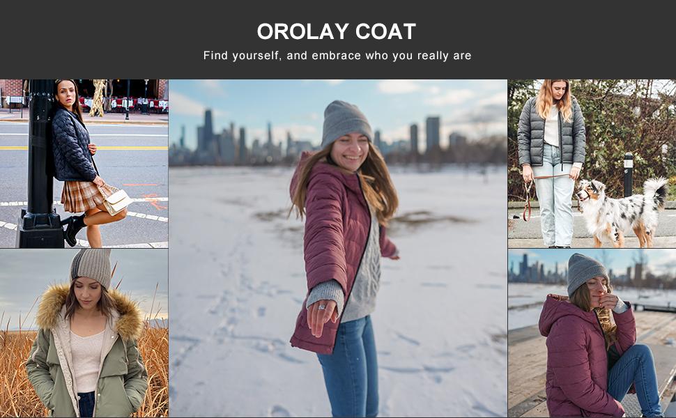 orolay lightweight down coat short women light jacket warm early winter fashion hooded down coat