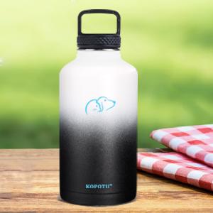 Leak proof  double wall vacuum insulation 64 oz water bottle