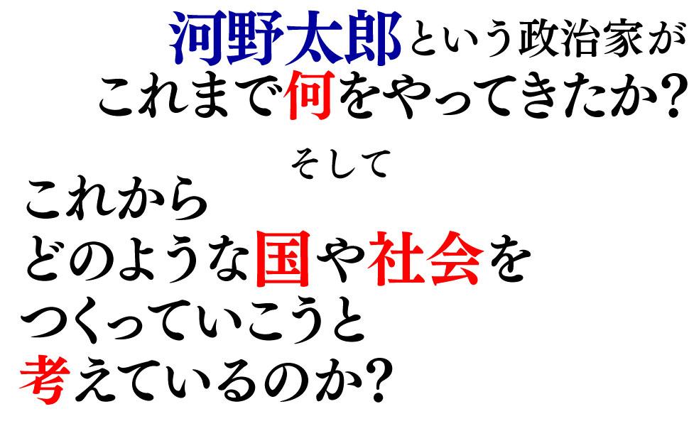 河野太郎 政治家 これまで やってきた これから どのような 国 社会 日本 前に進める 河野 太郎