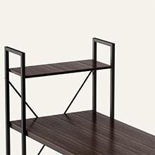 desk with stoage shelves