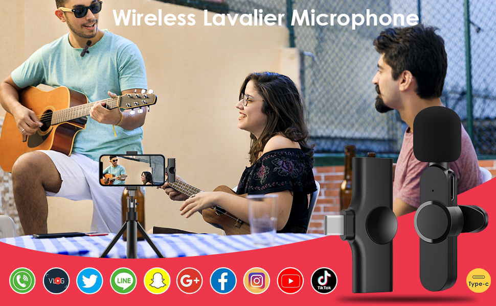 wireless lacalier microphone