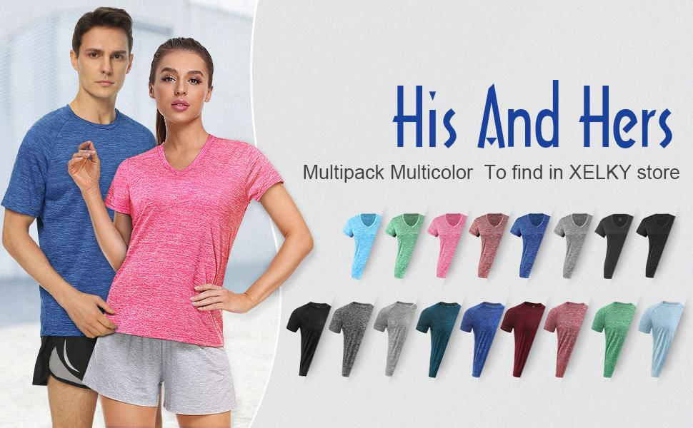 womens Sport Activewear Dry Fit Tee Workout Tops