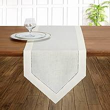 Diamond Table Runner Ivory