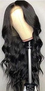 Body Wave Black Wig Human Hair