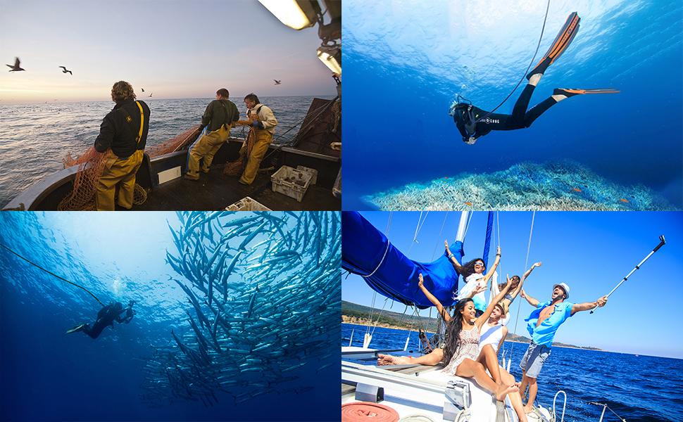 Aquarobo diving respirator use scene