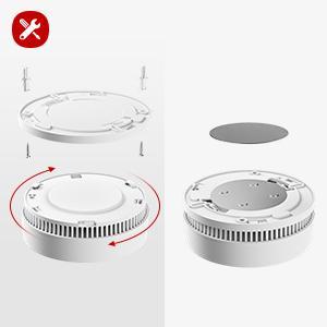 10 years battery smoke detector fire alarm