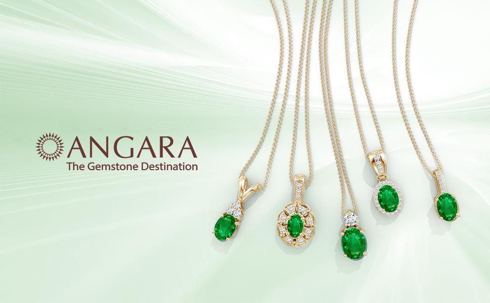 Emerald Pendant Neckalce