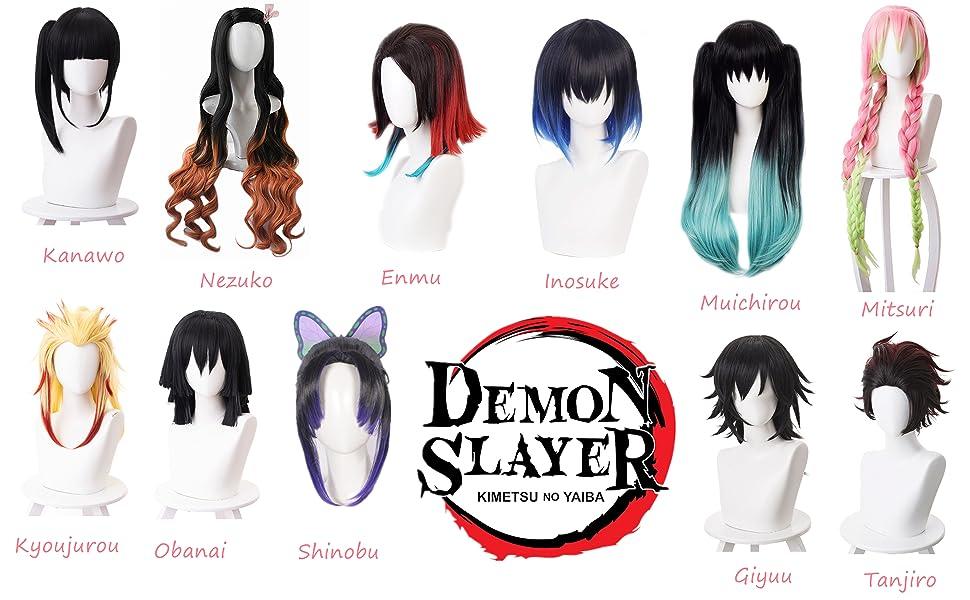 Demon Slayer Cosplay Wig