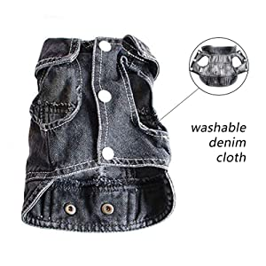 BLACK Turndown Collar jean vest