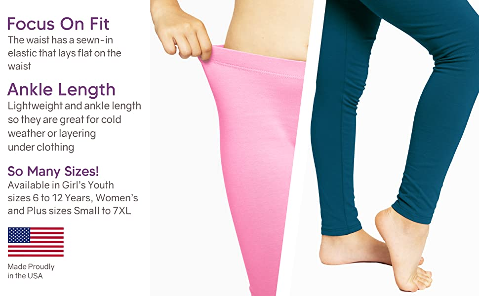 Oh So Soft Solid and Print Girl's Leggings Infographic