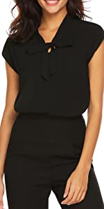 womens casual blouse cap sleeve