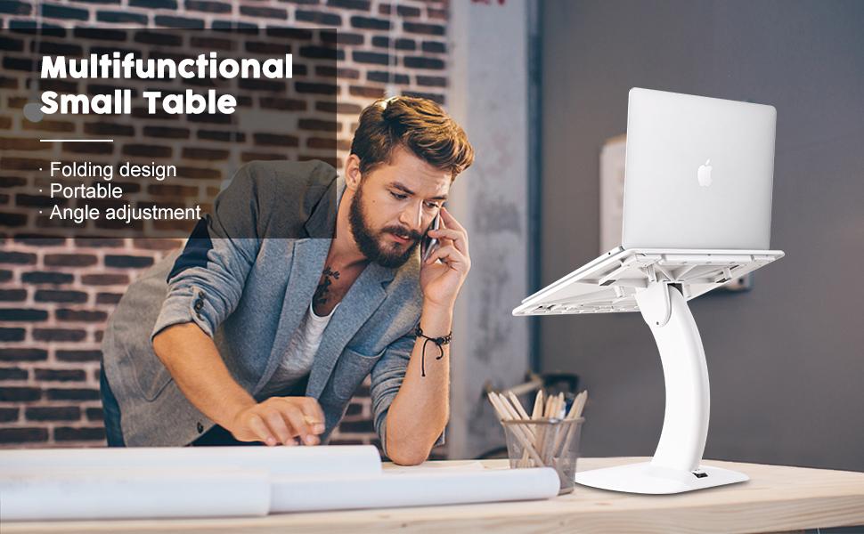 Adjustable angle laptop lap desk