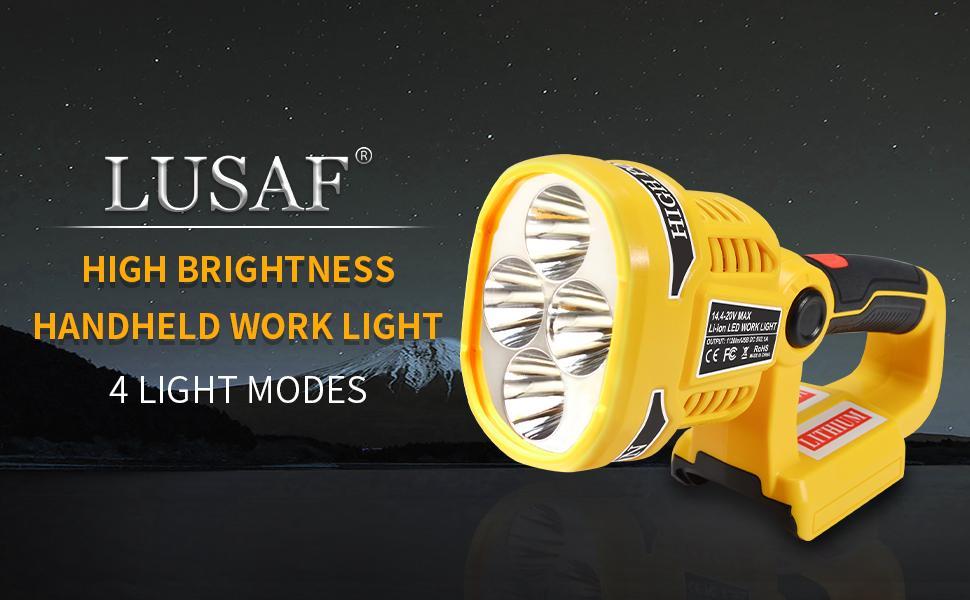 LUSAF high brightness handheld work light with 4 light modes