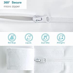 Thick invisible zipper, with flip-top Velcro