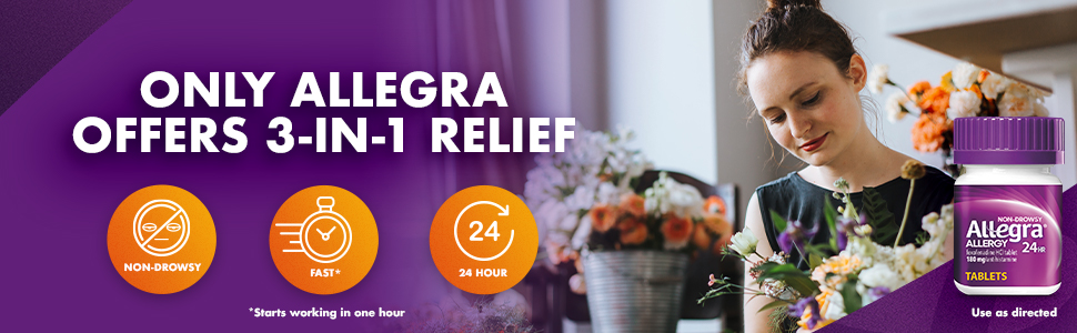 Find fast-acting, over the counter allergy relief that lasts all day.