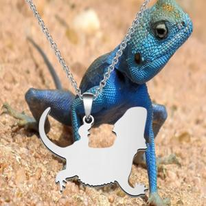 Bearded Dragon Necklace Pendant Long Length Chain Fans Gift Necklace Pendent