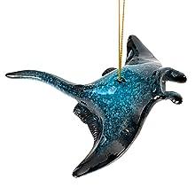 manta ray christmas ornament blue ocean beach house nautical decor