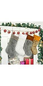 Fur Stockings Set of 4