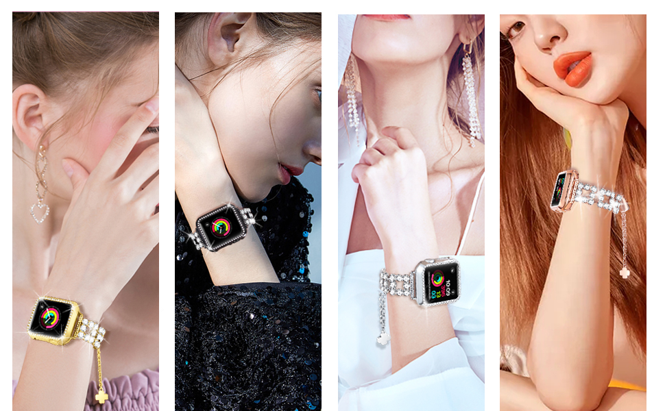 Bling bracelet band for Apple watch