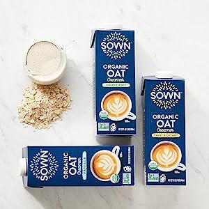 sown organic oat milk creamer