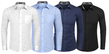 COOFANDY men's linen shirt
