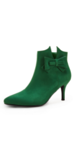 Womens Green Ankle Boots